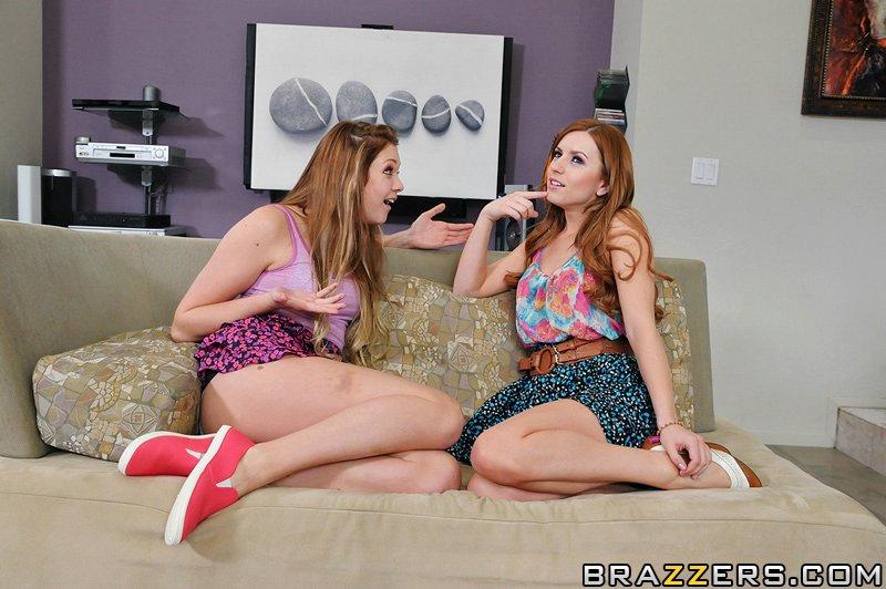 Lexi Belle и Jessie Andrews подставляют свои узкие дырки под огромный член